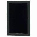 Aarco 1 Door Letter Board Cabinet Black Powder Coat - 18