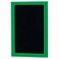 Aarco 1 Door Letter Board Cabinet Green Powder Coat - 18