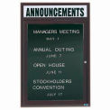 Aarco 1 Door Letter Board Cabinet w/ Header Bronzed Anod. - 18
