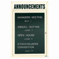 Aarco 1 Door Letter Board Cabinet w/ Header Ivory Powder Coat - 18