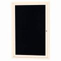 Aarco 1 Door Letter Board Cabinet Ivory Powder Coat - 18