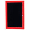Aarco 1 Door Letter Board Cabinet Red Powder Coat - 18