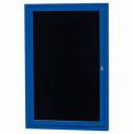 Aarco 1 Door Letter Board Cabinet Blue Powder Coat - 24