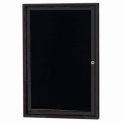 Aarco 1 Door Letter Board Cabinet Black Powder Coat - 24