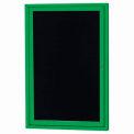 Aarco 1 Door Letter Board Cabinet Green Powder Coat - 24
