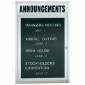 Aarco 1 Door Letter Board Cabinet w/ Header - 24