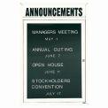 Aarco 1 Door Letter Board Cabinet w/ Header White Powder Coat - 24