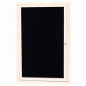 Aarco 1 Door Letter Board Cabinet Ivory Powder Coat - 24