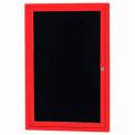 Aarco 1 Door Letter Board Cabinet Red Powder Coat - 24
