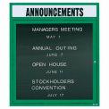 Aarco 1 Door Letter Board Cabinet w/ Header Green Powder Coat - 30