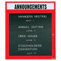 Aarco 1 Door Letter Board Cabinet w/ Header Red Powder Coat - 30