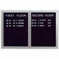 Aarco 2 Door Letter Board Cabinet - 48