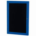 "Aarco 2 Door Letter Board Cabinet Blue Powder Coat - 48""W x 36""H"