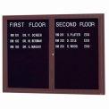 Aarco 2 Door Letter Board Cabinet Bronzed Anod. - 48