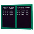 "Aarco 2 Door Letter Board Cabinet Green Powder Coat - 48""W x 36""H"