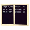 "Aarco 2 Door Letter Board Cabinet Ivory Powder Coat - 48""W x 36""H"