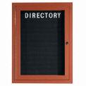 Aarco 1 Door Frame Wood Look, Oak Enclosed Letter Board - 18