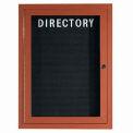 Aarco 1 Door Frame Wood Look, Oak Enclosed Letter Board - 24