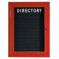 Aarco 1 Door Frame Wood Look, Cherry Enclosed Letter Board - 18