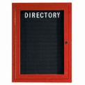 Aarco 1 Door Frame Wood Look, Cherry Enclosed Letter Board - 24