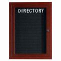 Aarco 1 Door Frame Wood Look, Walnut Enclosed Letter Board - 24