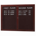 "Aarco 2 Door Frame Wood Look, Walnut Enclosed Letter Board - 48""W x 36""H"