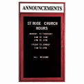 Aarco 1 Door Cherry Enclosed Changeable Letter Board w/ Header - 18