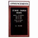 Aarco 1 Door Cherry Enclosed Changeable Letter Board w/ Header - 24