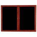 Aarco 2 Door Cherry Enclosed Changeable Letter Board - 48