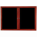 Aarco 2 Door Cherry Enclosed Changeable Letter Board - 60