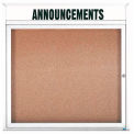 "Aarco 1 Door Alum Framed Bulletin Board w/ Header, Illum White Pc - 36""W x 36""H"