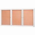 Aarco 3 Door Framed Illuminated Enclosed Bulletin Board White Pwdr. Coat - 72