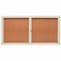 "2 Door Framed Enclosed Bulletin Board - 72""W x 36""H"