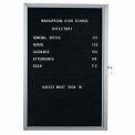 Aarco 1 Door Enclosed Letter Board Cabinet - 24