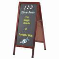 """Aarco Solid Oak Wood w/ Cherry Finish A-Frame Sidewalk Black Chalkboard - 18""""W x 42""""H"""