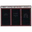 Aarco 3 Door Enclosed Letter Board Cabinet w/ Header Bronzed Anod. - 72