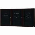 Aarco 3 Door Enclosed Letter Board Cabinet Black Powder Coated - 96