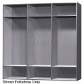 12 x 18 x 60 Phenolic Locker, Cubbie Locker Silver Gray