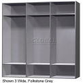 15 x 18 x 72 Solid Plastic Locker Cubbie Locker Folkstone Gray
