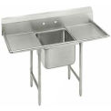 "Regaline 1 Compartment Sink, 16L x20W Bowl, 8 Splash, 18"" Left & Right Drainboards, 18Ga."