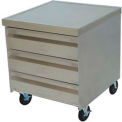 "Mobile Drawer Cabinet, 25-1/4"" X 25-1/4"" X 30"", Three Drawer Tier, 20"" X 20"" Drawers, S/S Top W/Coun"