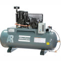 Atlas Copco Two-Stage Electric Air Compressor, Horizontal, 7.5 HP, 208-230V, 3 PH, 80 Gal