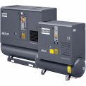 Atlas Copco GX4-150TFF, 5HP, Rotary Screw Comp, 53 Gal, Horizontal, 150 PSI, 16.6 CFM,1-Phase 230V