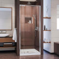 "Dreamline DL-6215C-01CL Flex Frameless Shower Door & Base Kit, Chrome, 32"" x 32"" x 74-3/4"""