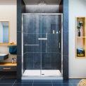 """DreamLine DL-6975C-01CL Infinity-Z Frameless Sliding Shower Door & SlimLine 36"""" x 48"""" Shower Base"""