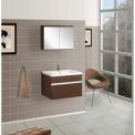 "DreamLine™ Wall-Mounted Bathroom Vanity DLVRB-103-WG, Counter & Medicine Cabinet, 24""W"