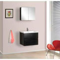 "DreamLine™ Wall-Mounted Bathroom Vanity DLVRB-104-BK, Counter & Medicine Cabinet, 25-5 & 8""W"