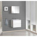 "DreamLine™ Wall-Mounted Bathroom Vanity DLVRB-104-WH, Counter& Medicine Cabinet, 25-5/8""W"