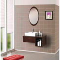 "DreamLine™ Wall-Mounted Modern Bathroom Vanity DLVRB-134-WN, Sink & Mirror, 31-1/2""W"
