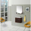 "DreamLine™ Wall-Mounted Modern Bathroom Vanity DLVRB-318-WN, Sink & Mirror, 19-7/8""W"